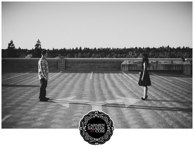 quirky engagement photo in Sacramento