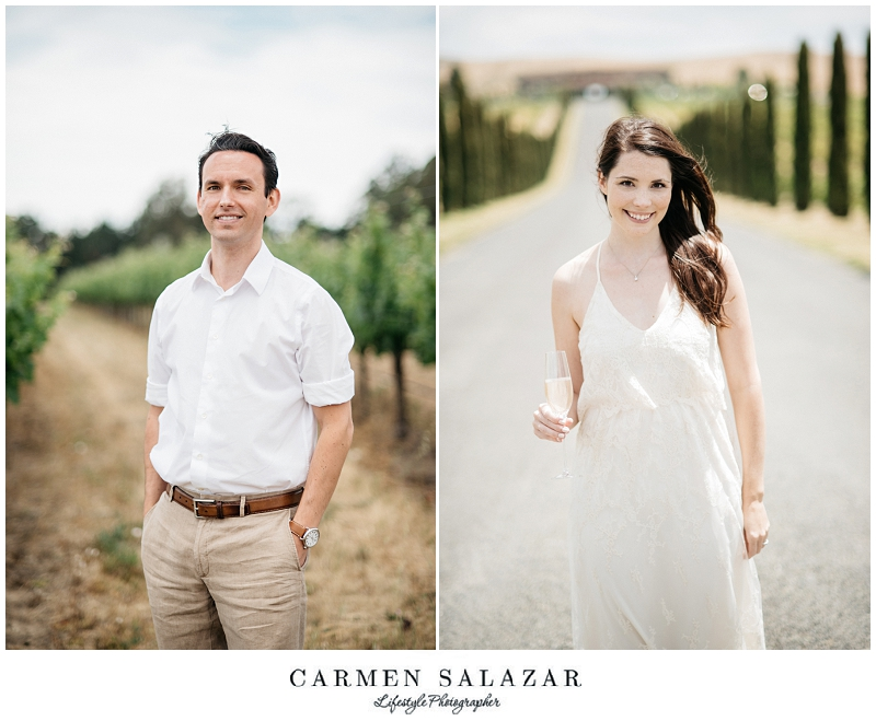 winery Engagement Session in Napa by Carmen Salazar