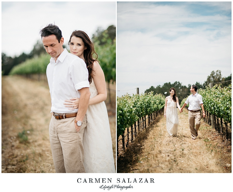 winery Engagement Session with Carmen Salazar