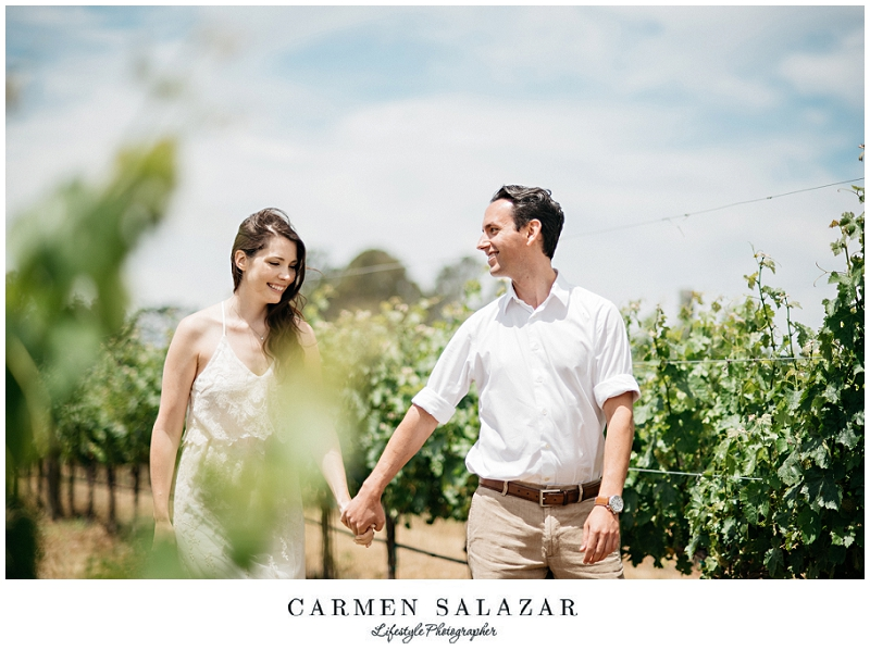 romantic Napa Engagement Session by Carmen Salazar