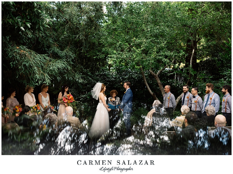 Outdoor Art Club Wedding Creative Ceremony Photo In A Forest