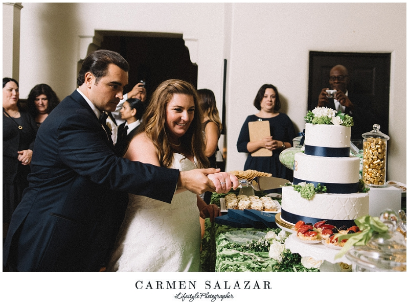 cake cutting photo at a Sutter Club reception by Carmen Salazar