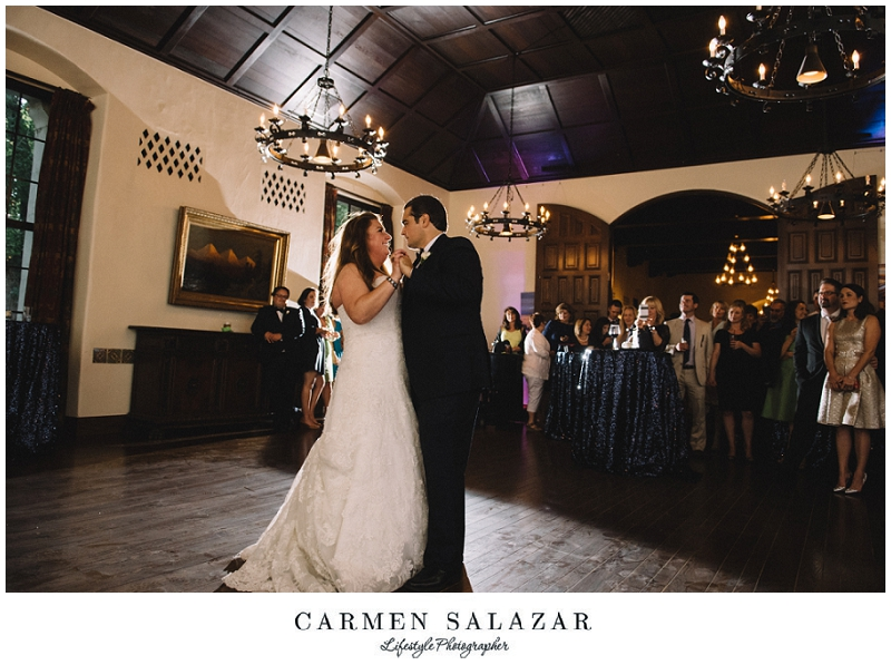 First dance picture at a Sutter Club reception by Carmen Salazar