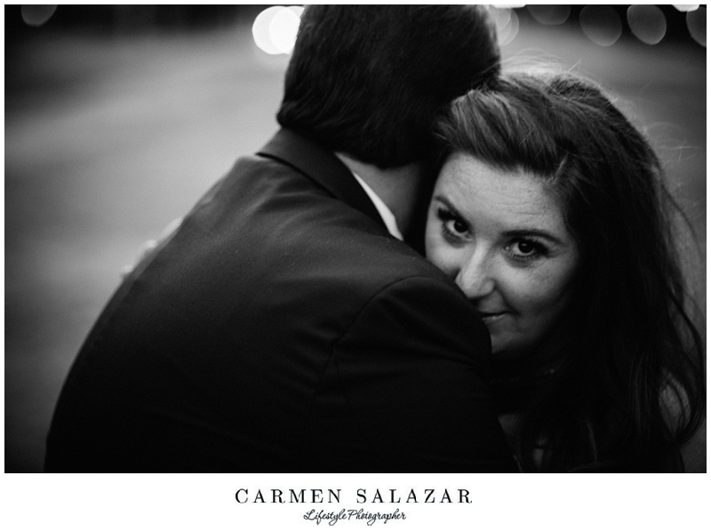 black and white bridal portrait by Carmen Salazar