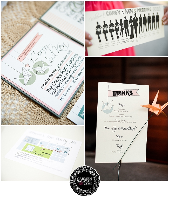 DIY wedding papery