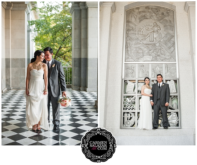 California State Capitol wedding portraits