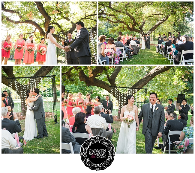 Capitol Park wedding ceremony