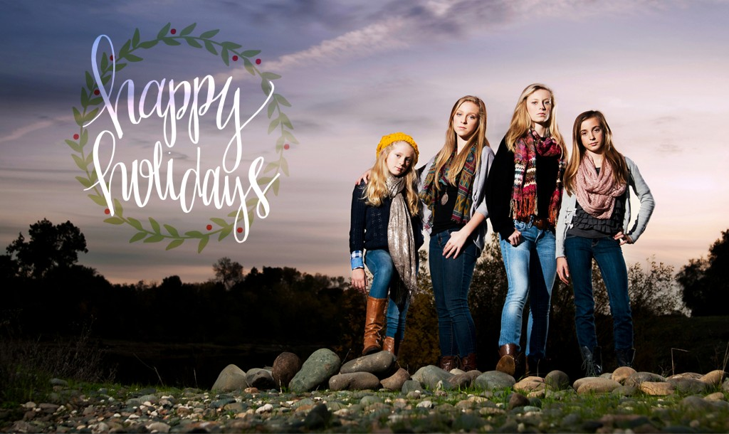 outdoor holiday portrait session