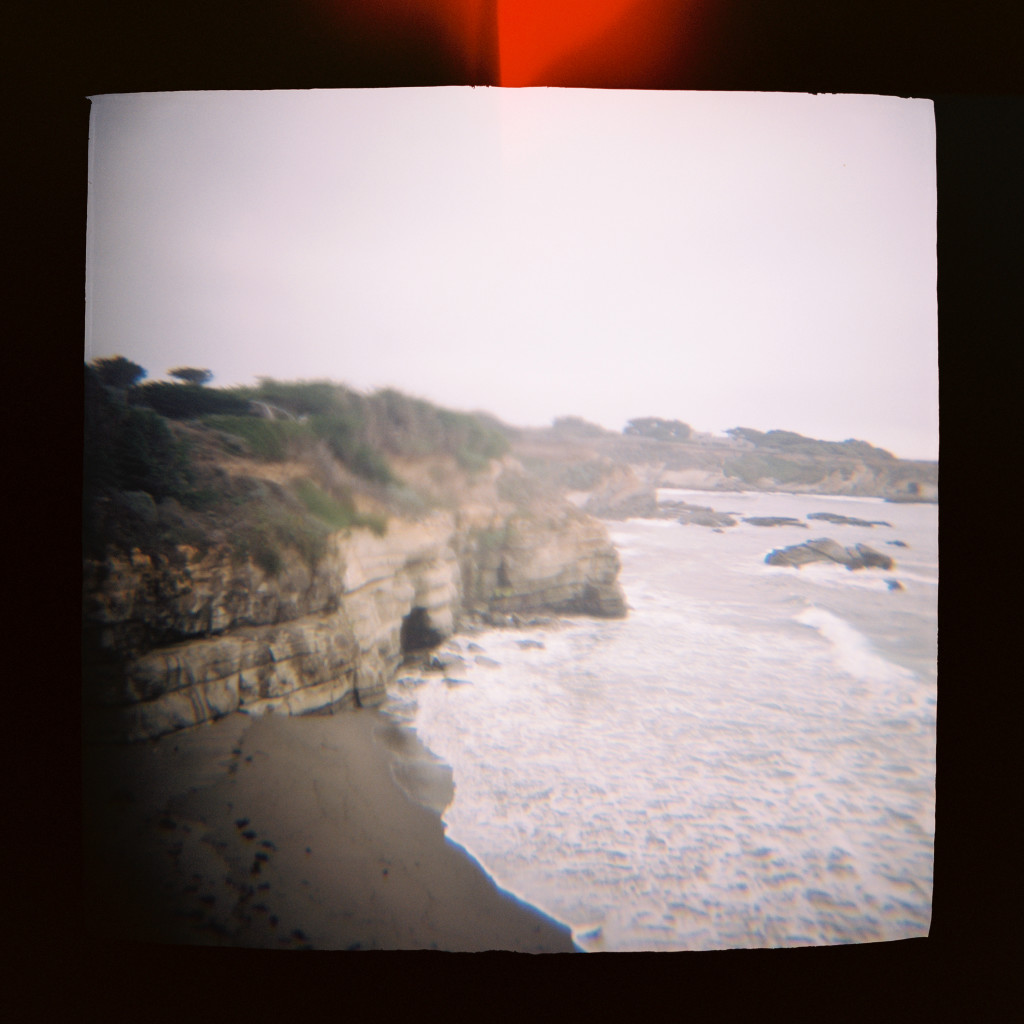 Ocean bluffs Holga travel photos