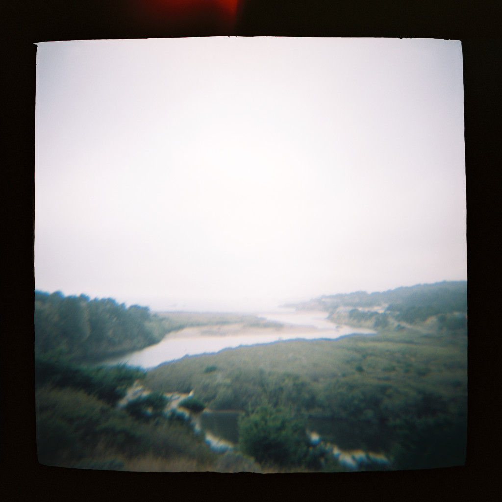 Holga travel photos of river valley
