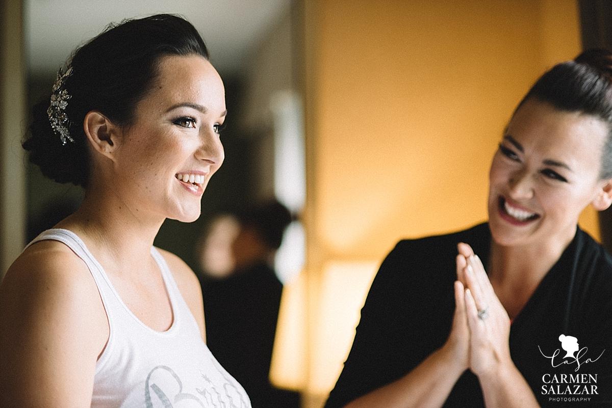 Beautiful Bride getting ready - Carmen Salazar