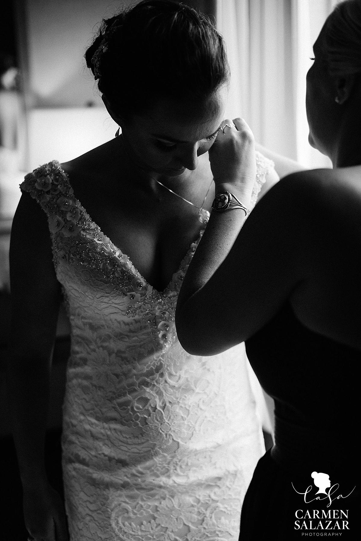 Black and White Bridal Portraits - Carmen Salazar