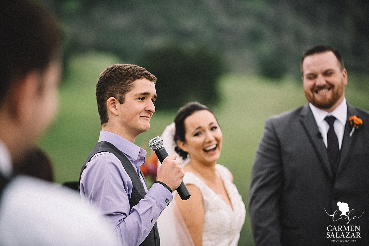 Candid wedding reaction photography - Carmen Salazar