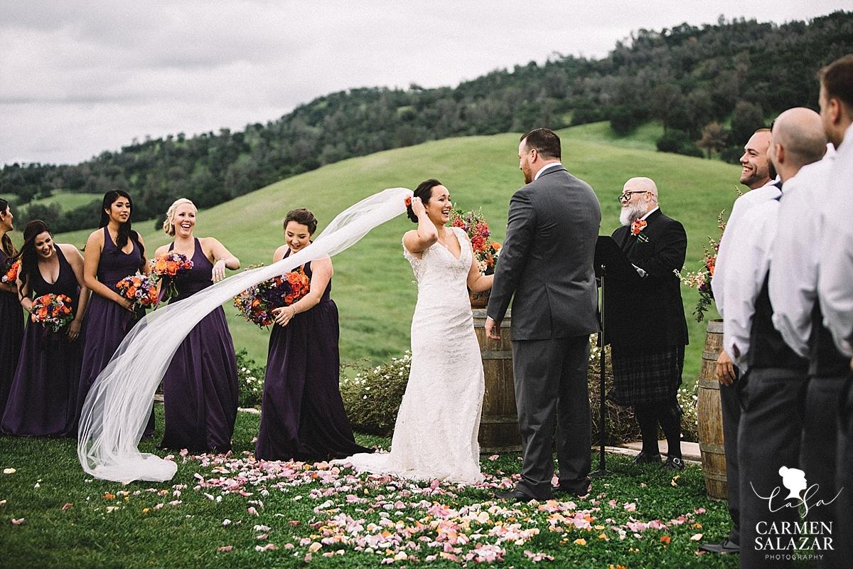 Windswept bridal beauty - Carmen Salazar