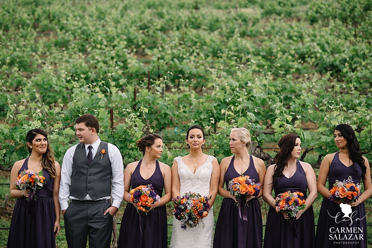 Elegant bridal party photos - Carmen Salazar