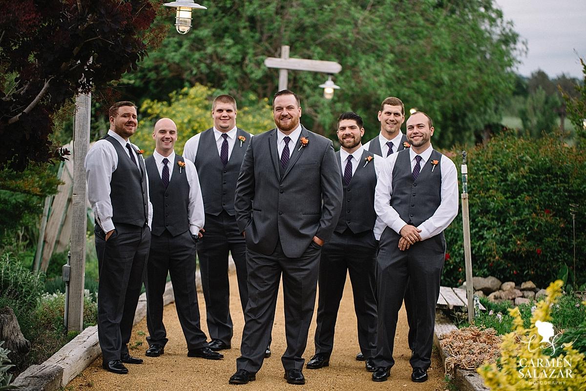 Handsome groomsmen portraits - Carmen Salazar