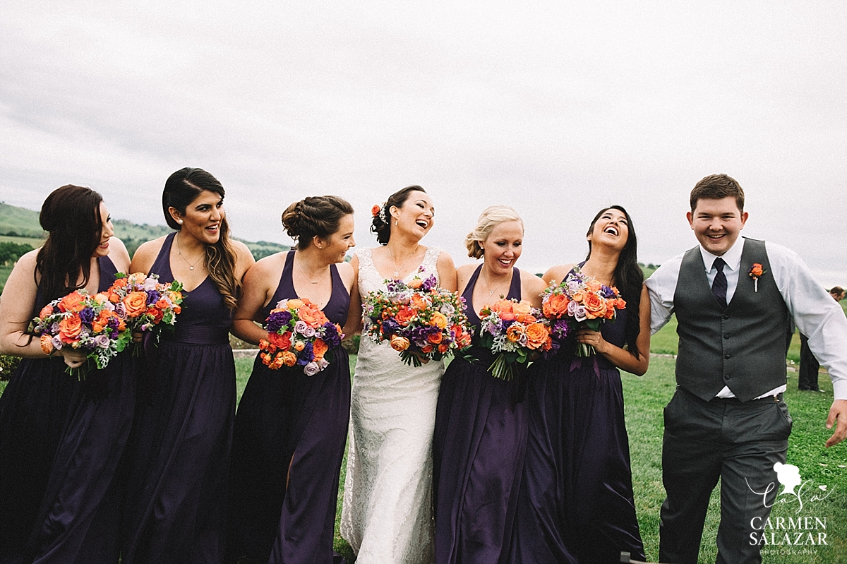 Fun and pretty bridesmaids photography - Carmen Salazar