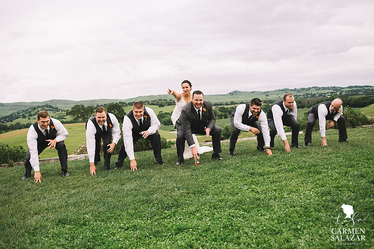 Silly bridal party portraits - Carmen Salazar
