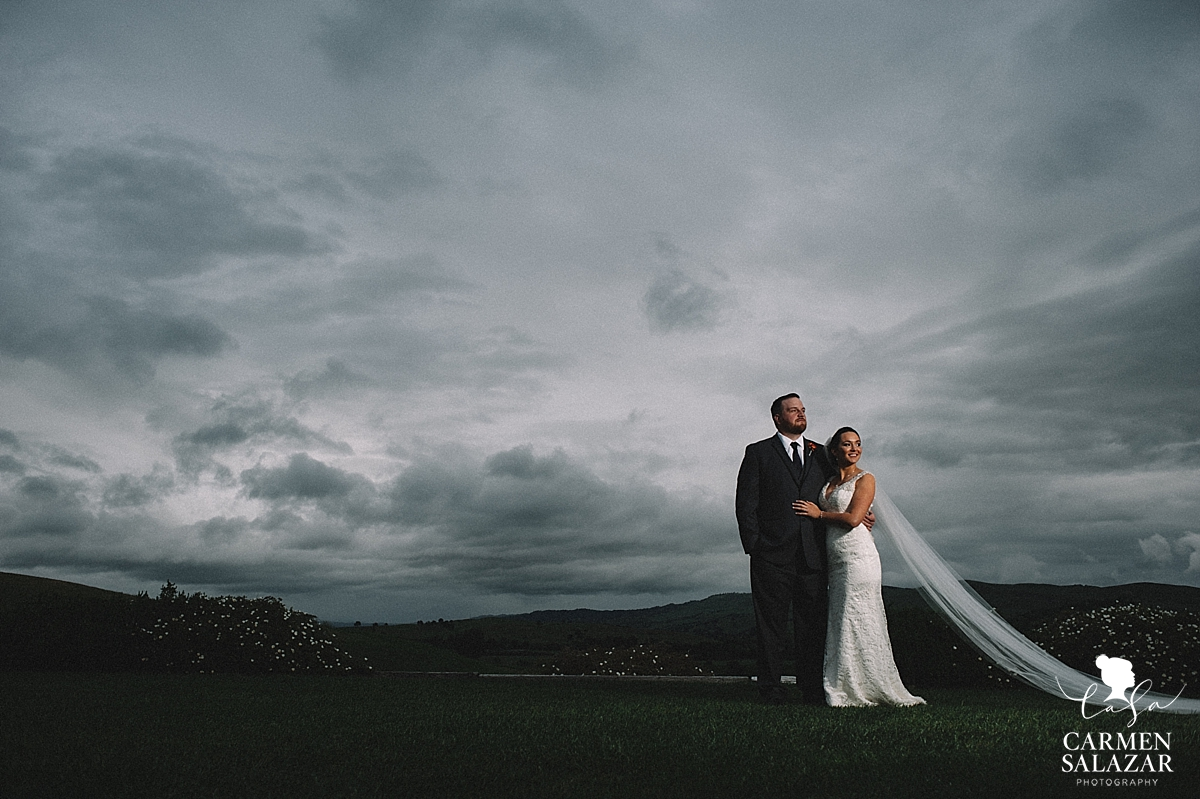 Epic skies wedding photography - Carmen Salazar