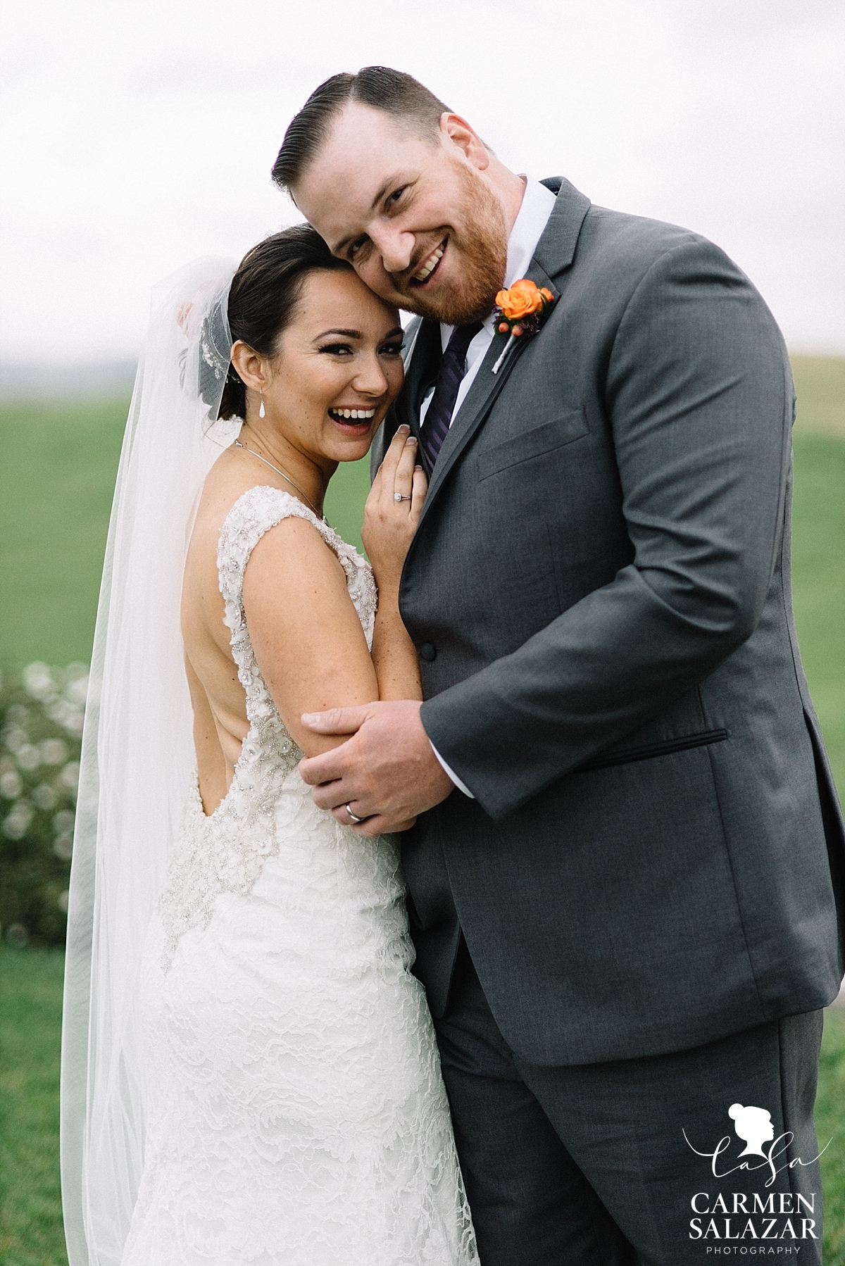 Happy newlyweds at Taber Ranch - Carmen Salazar
