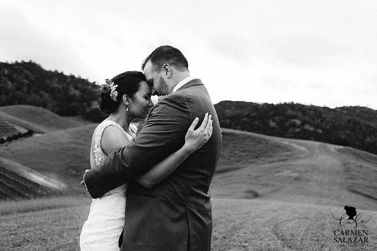 Intimate bride and groom photography - Carmen Salazar