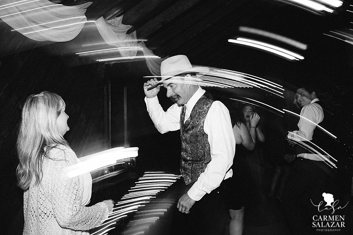 Cowboy father of the bride dancing - Carmen Salazar