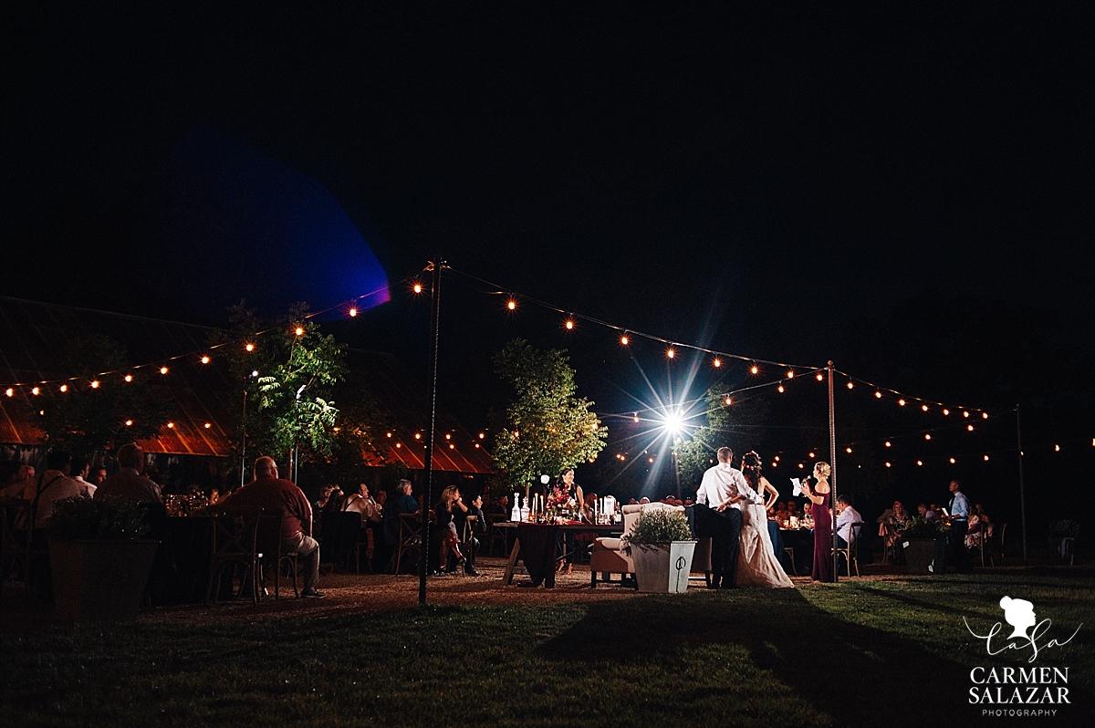 Night landscape of Field & Pond venue - Carmen Salazar