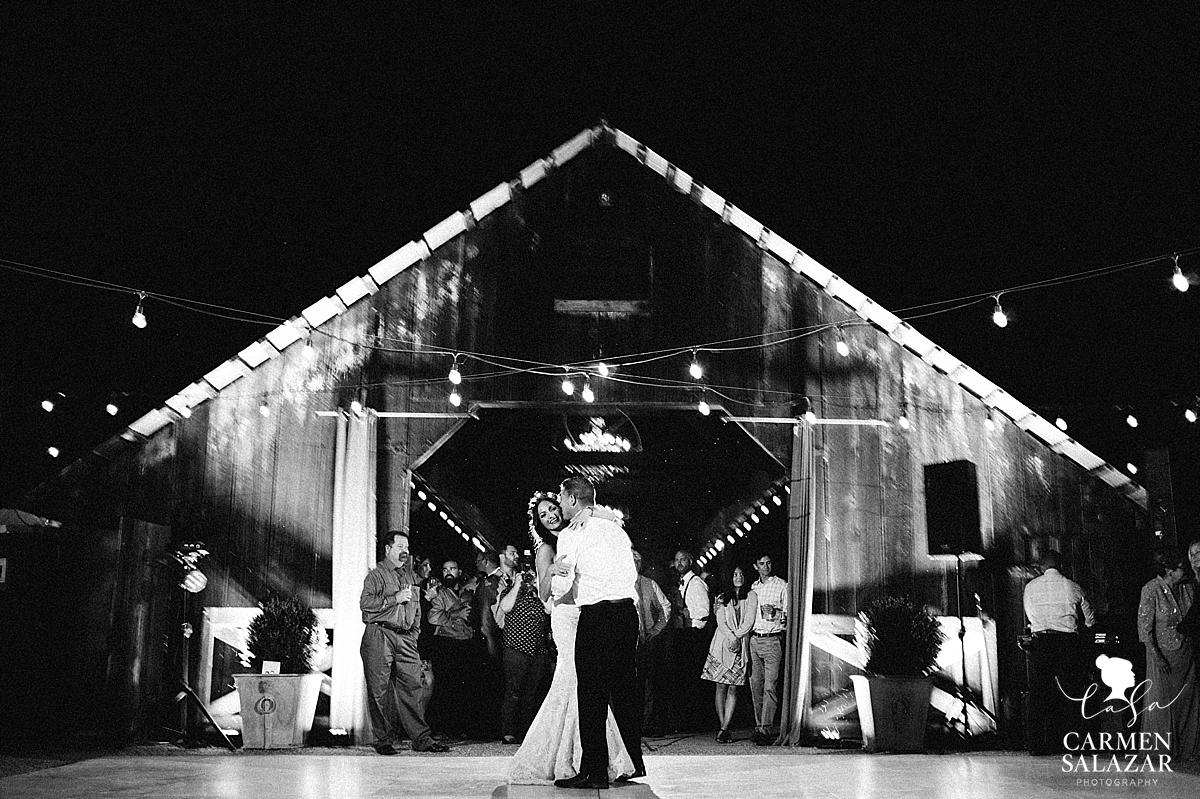 First dance at Field & Pond wedding - Carmen Salazar