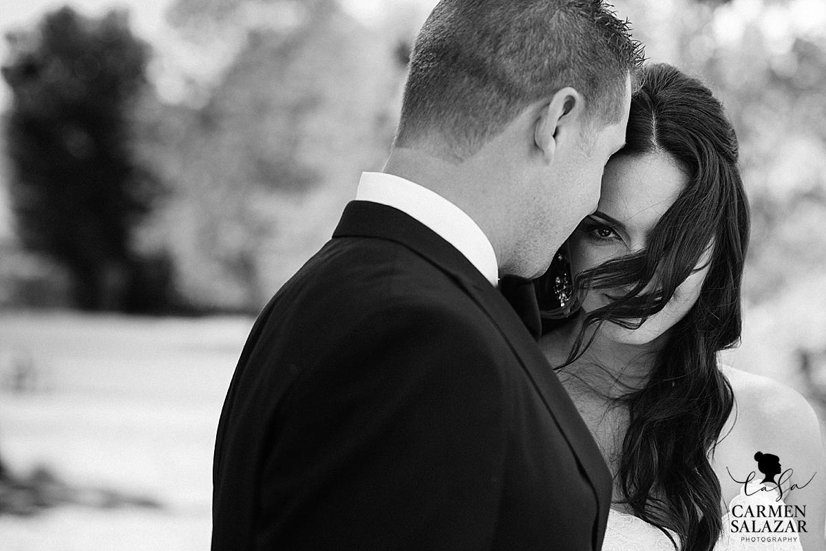 Stunning bride and groom in Winters, CA