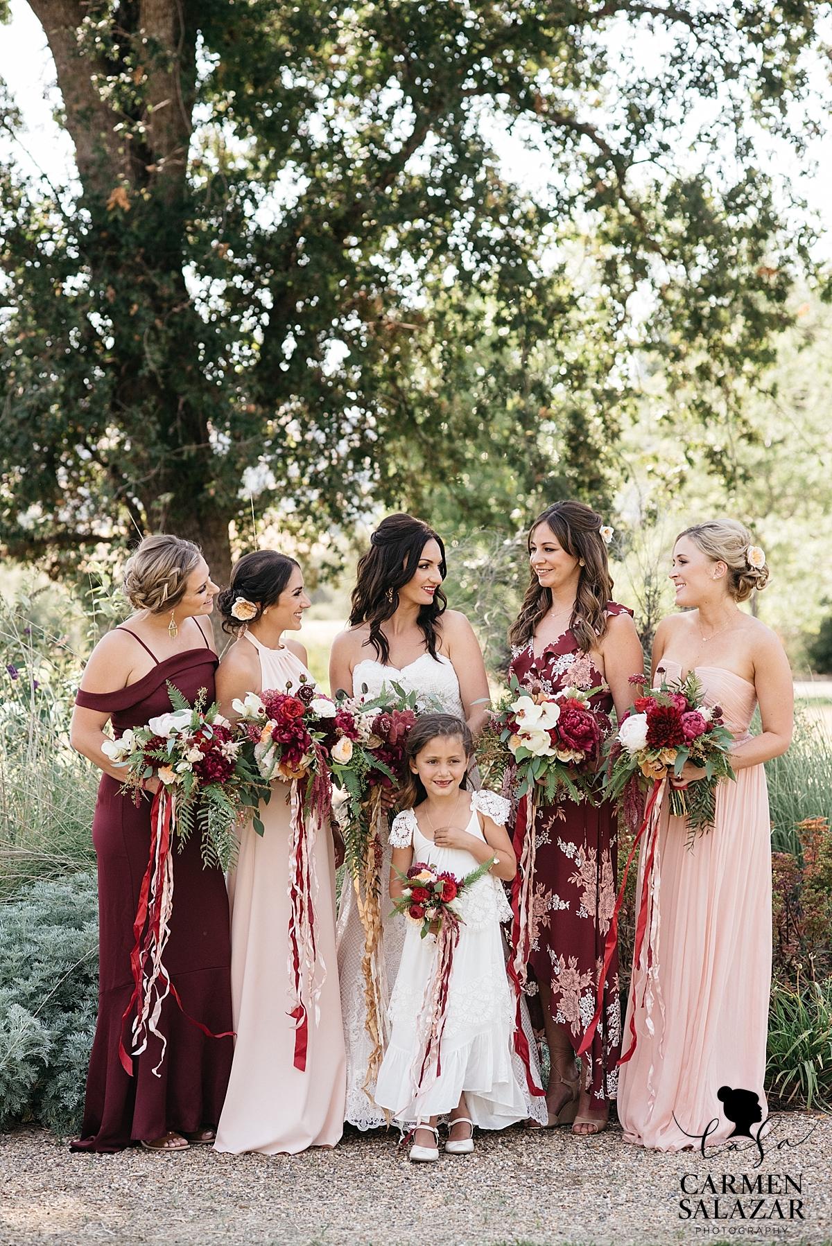 Boho glam bridesmaid style - Carmen Salazar