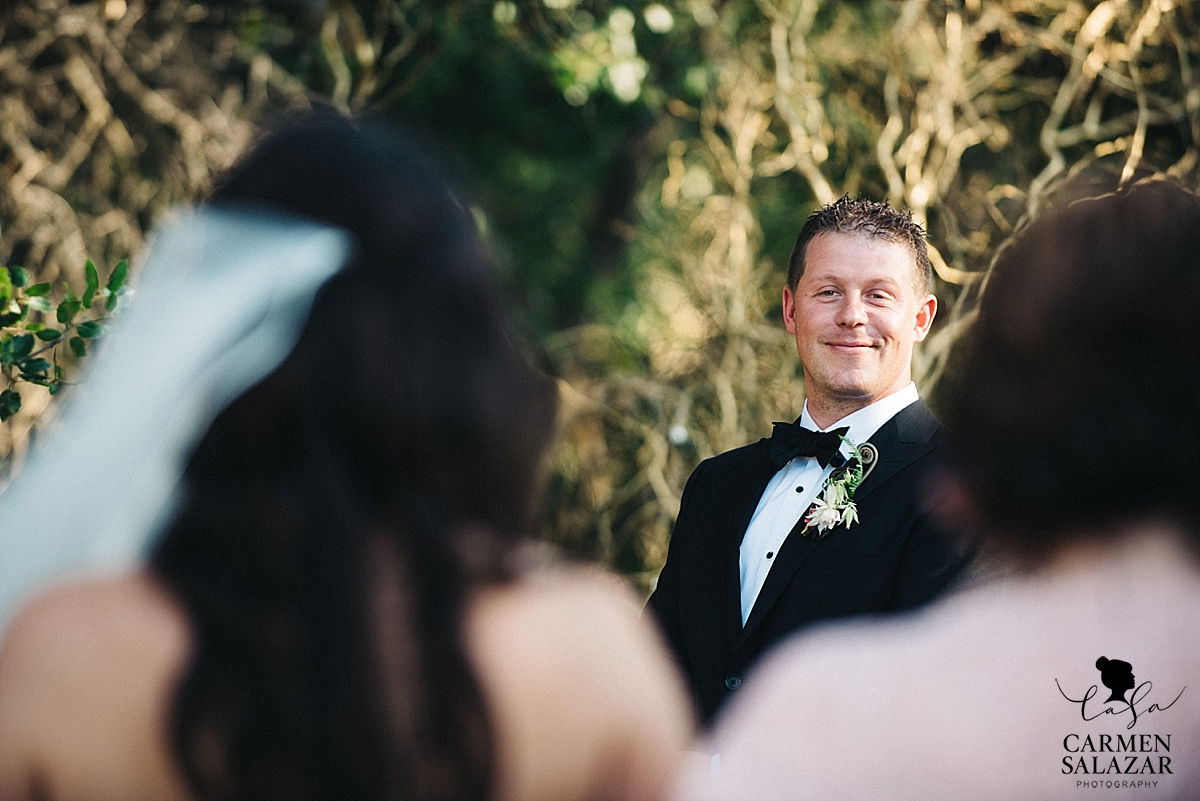 Groom seeing his bride walk the aisle - Carmen Salazar
