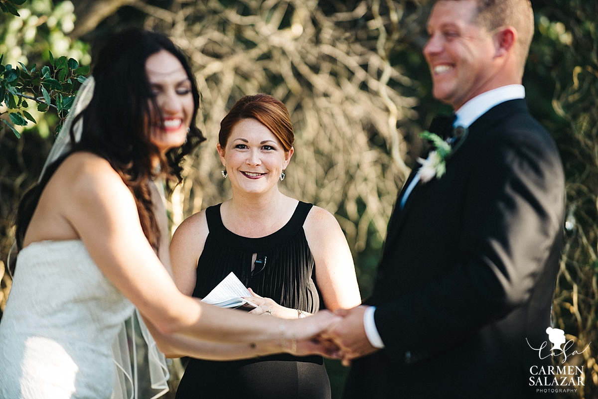 Laughing Field & Pond bride and groom - Carmen Salazar