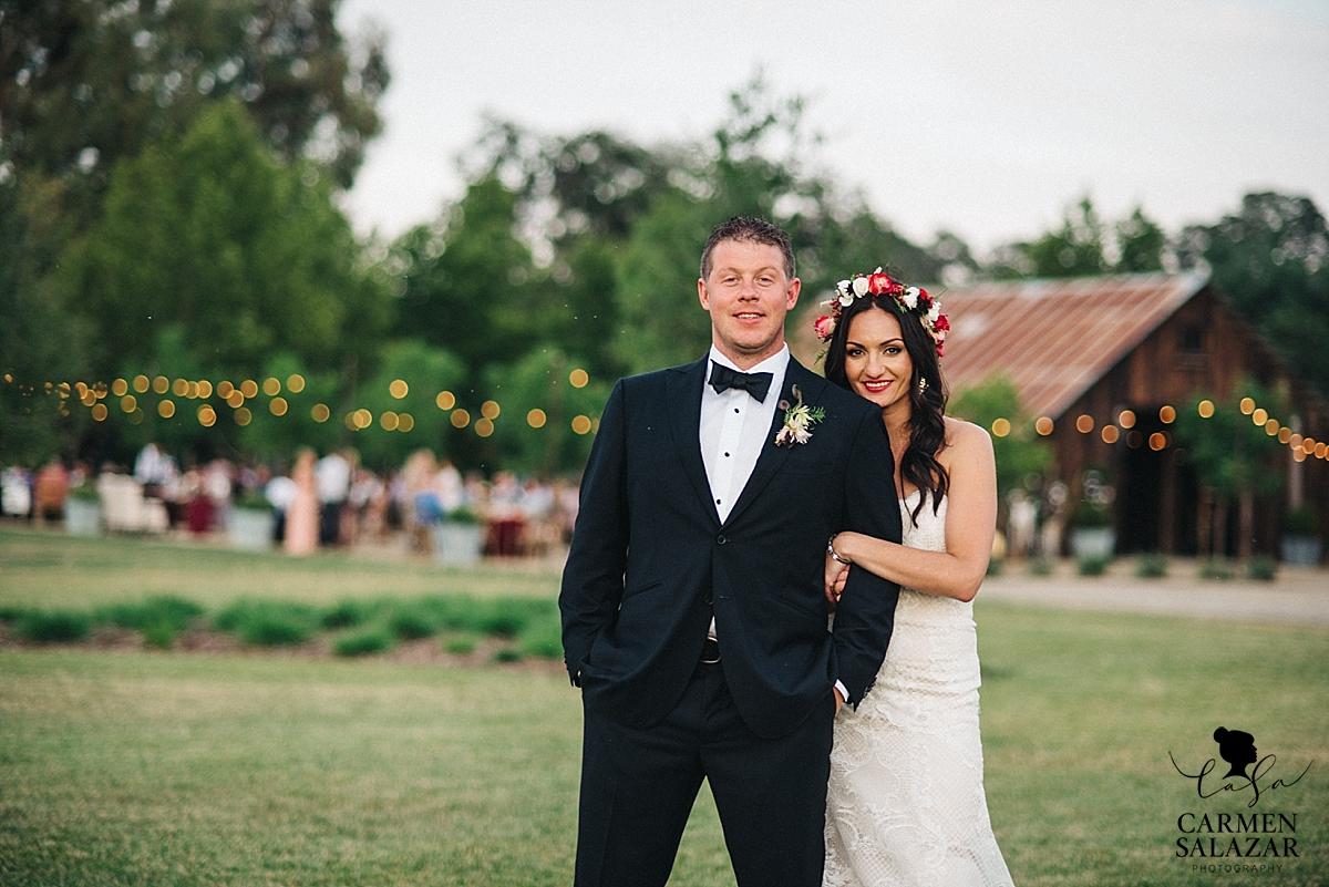 Sunset photography at Winters wedding - Carmen Salazar