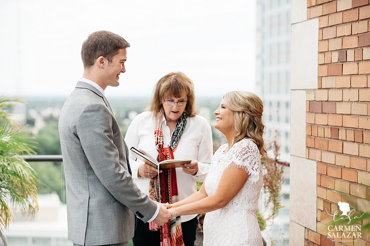 Sacramento elopement ceremony in downtown