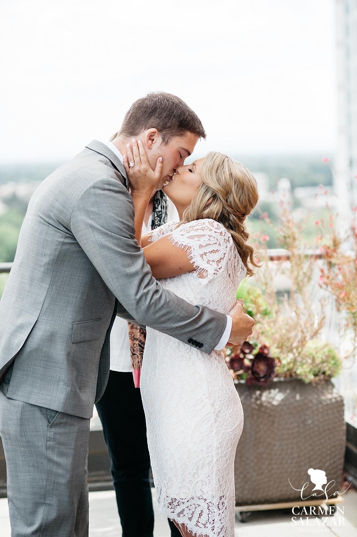 First kiss on The Citizen penthouse balcony - Carmen Salazar