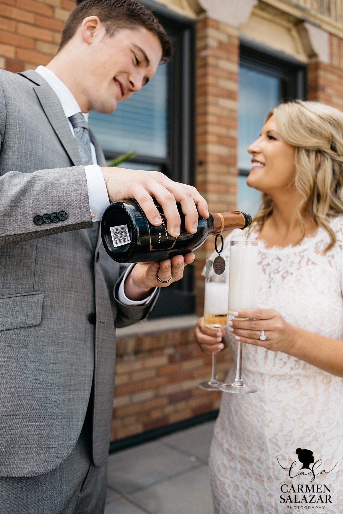 Citizen Hotel champagne toast - Carmen Salazar