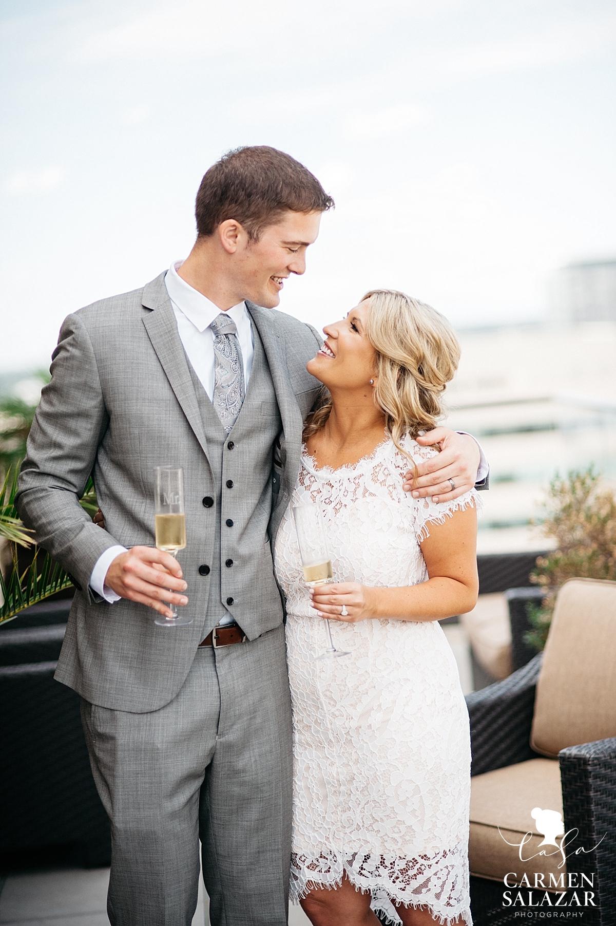 Happy newlywed portraits - Carmen Salazar