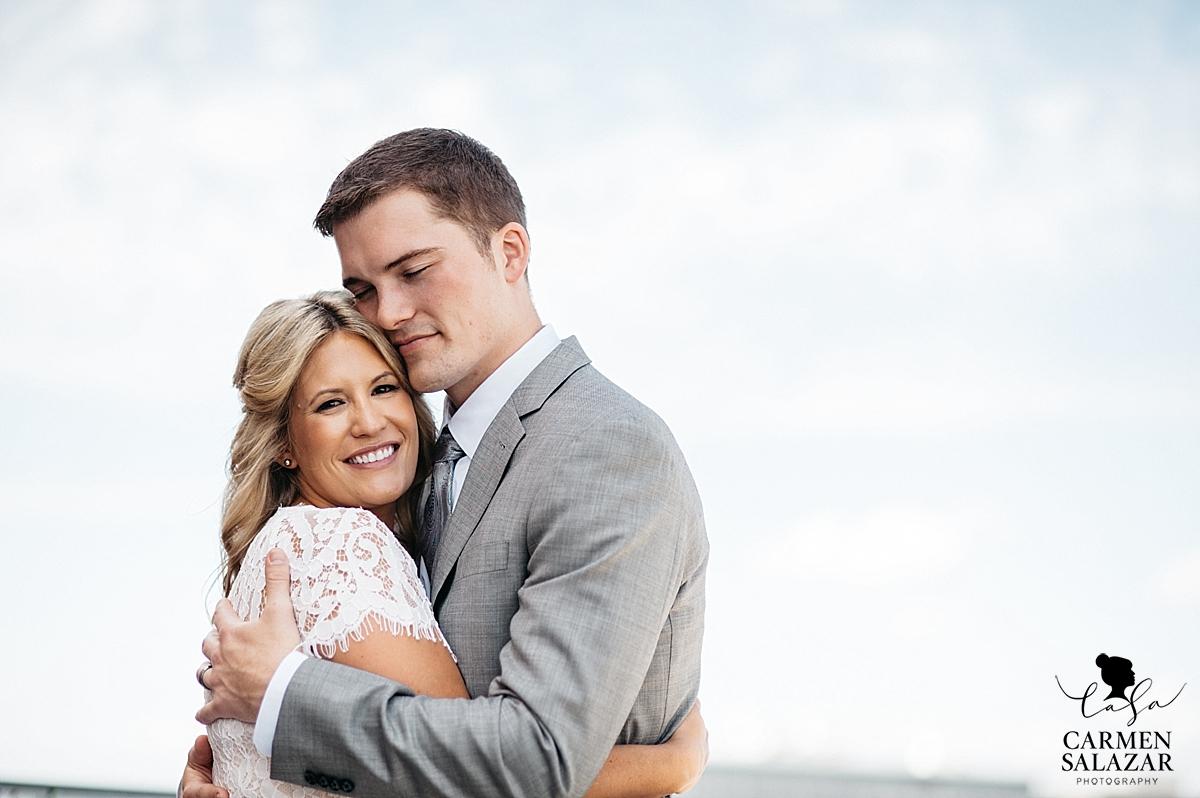 Sentimental Sacramento bride and groom - Carmen Salazar