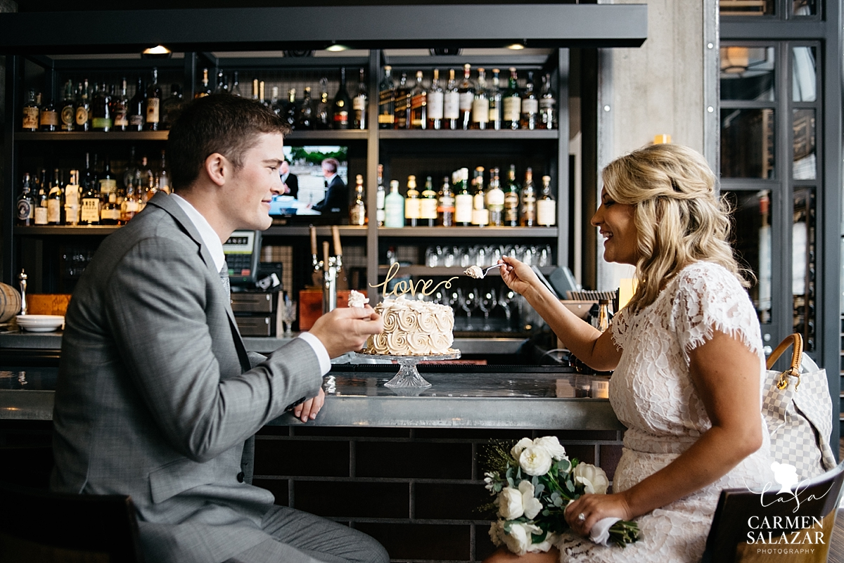Freeport Wedding cake at The Grange Sacramento - Carmen Salazar