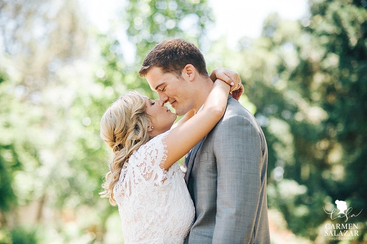 Sacramento bride and groom at Capitol Park - Carmen Salazar