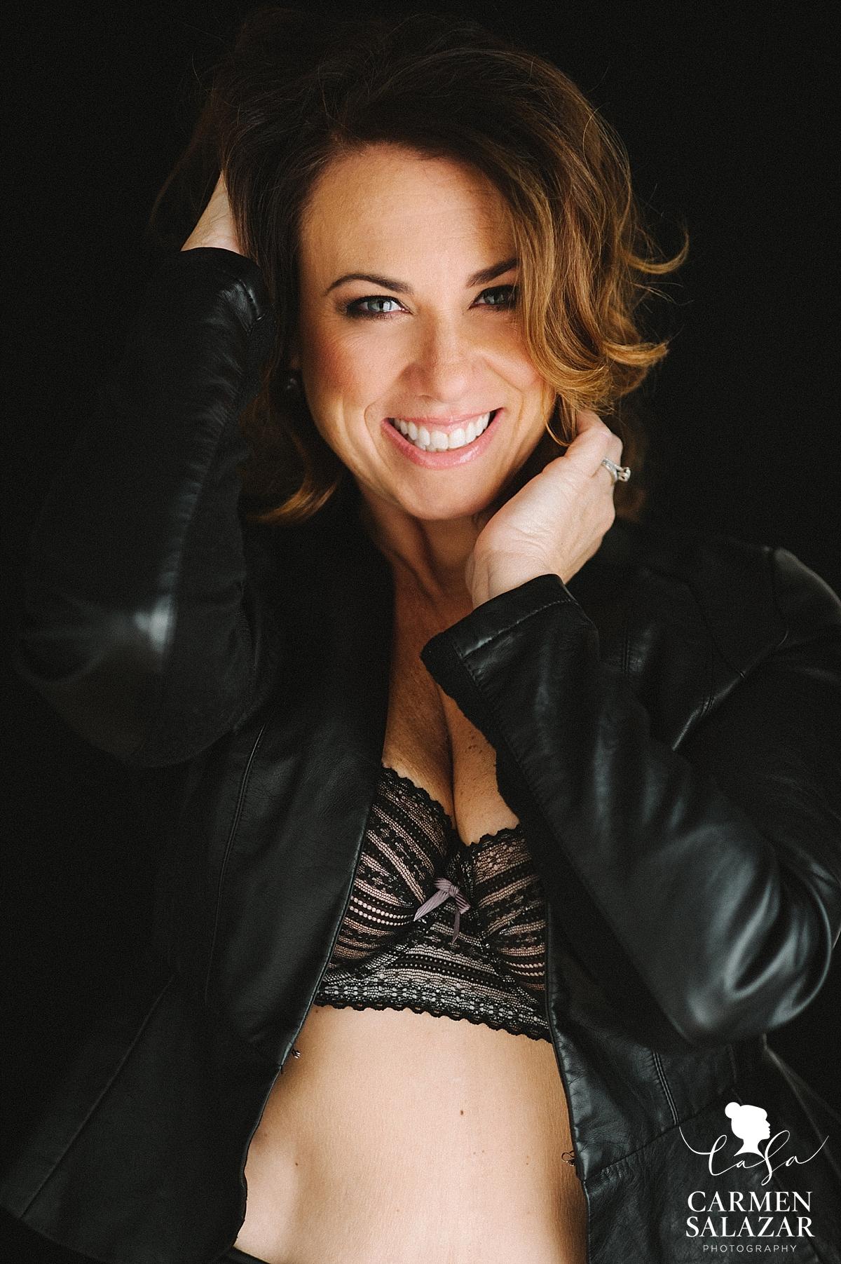 Happy boudoir bombshell - Carmen Salazar