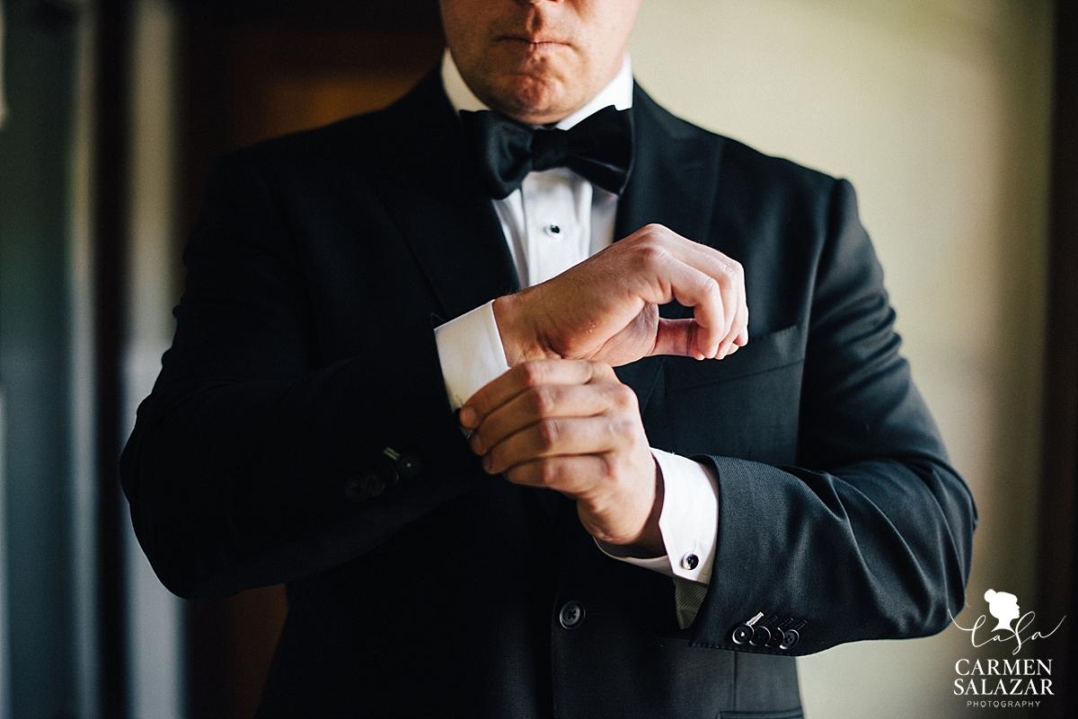Old Hollywood style groom attire