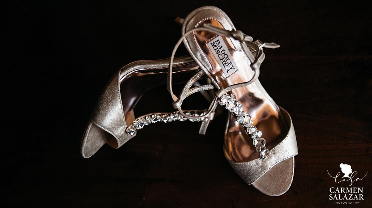 Badgley Mischka wedding shoes - Carmen Salazar