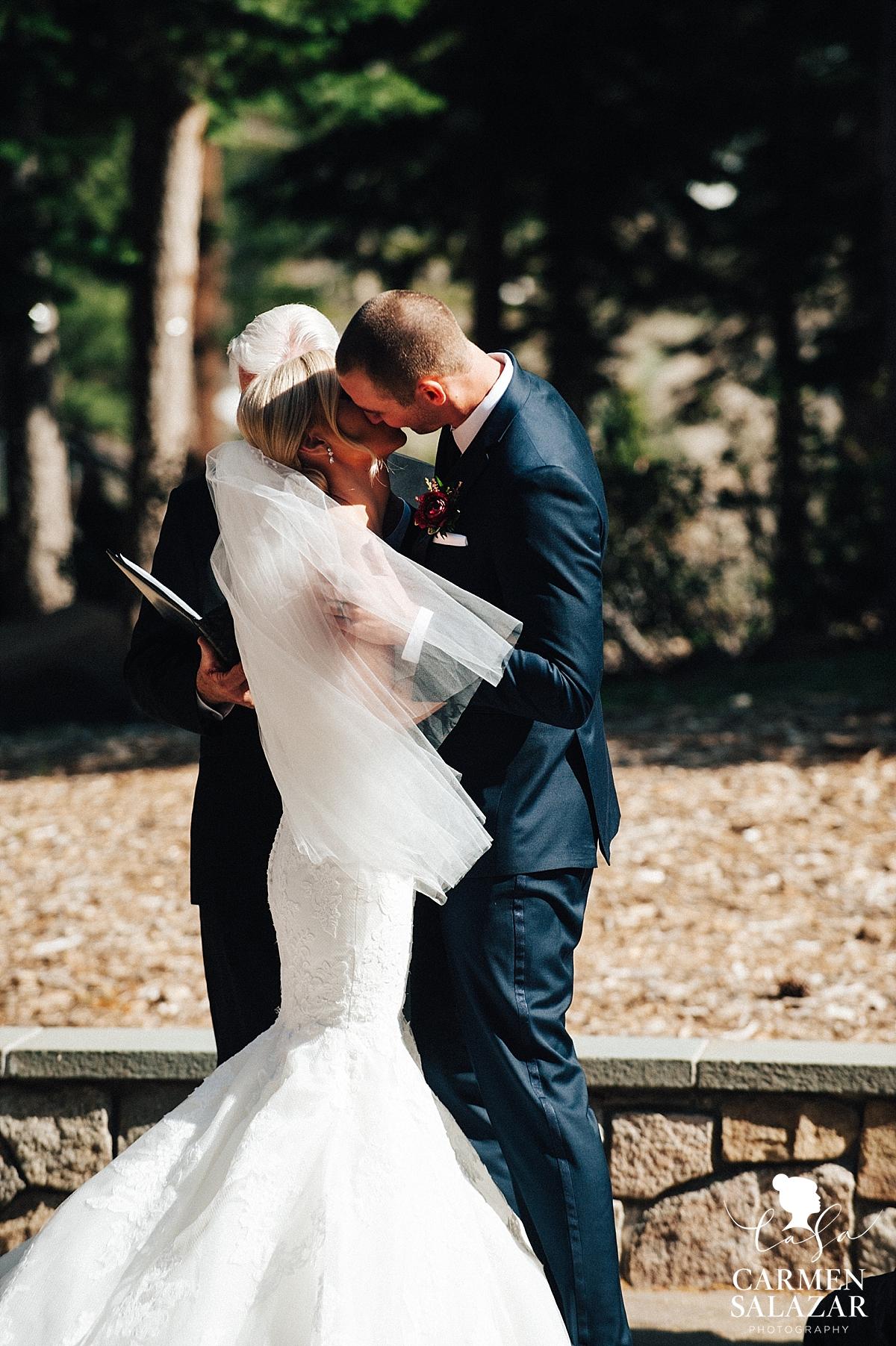 Romantic Tahoe wedding ceremony - Carmen Salazar
