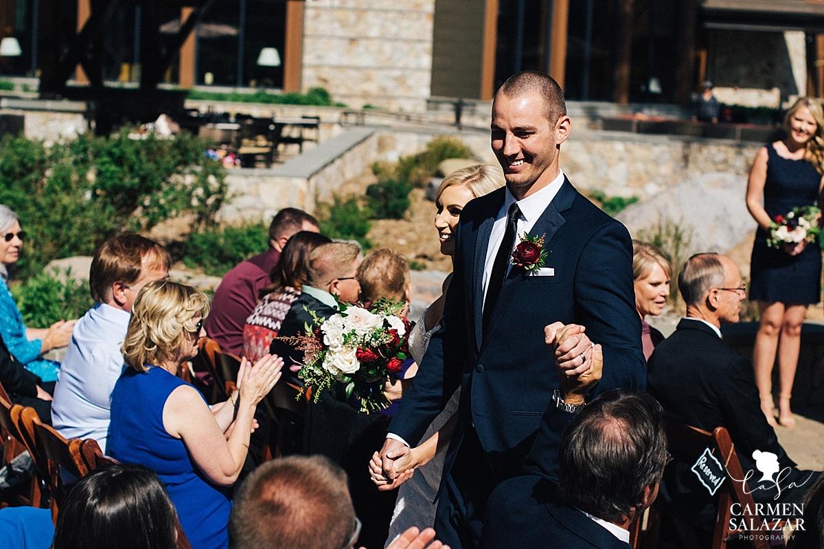 Happy bride and groom congratulations - Carmen Salazar