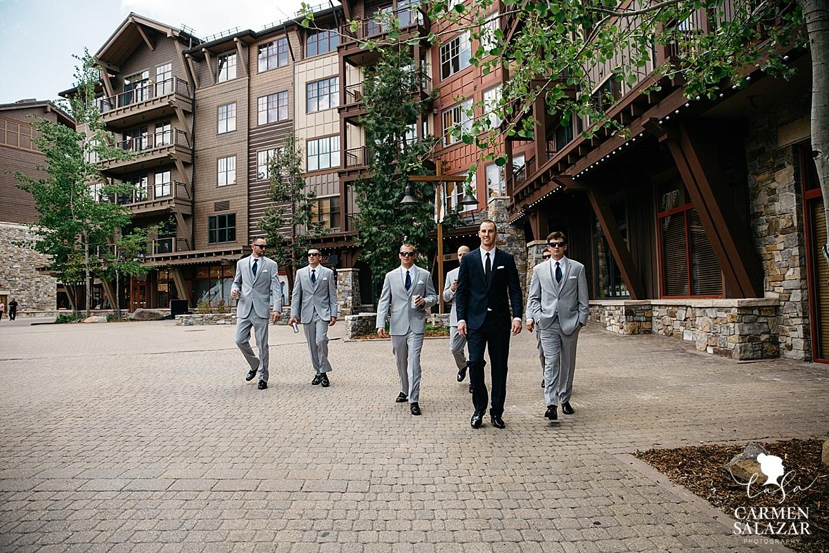 Cool groomsmen at Northstar Tahoe - Carmen Salazar