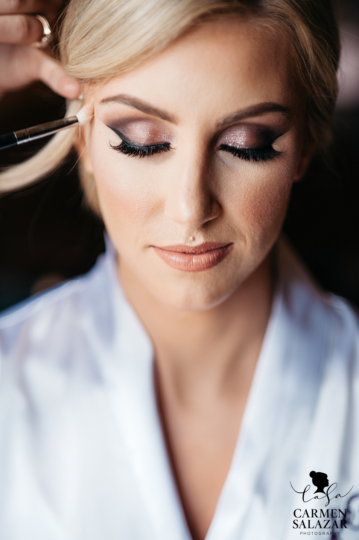 Glamorous bridal makeup - Carmen Salazar