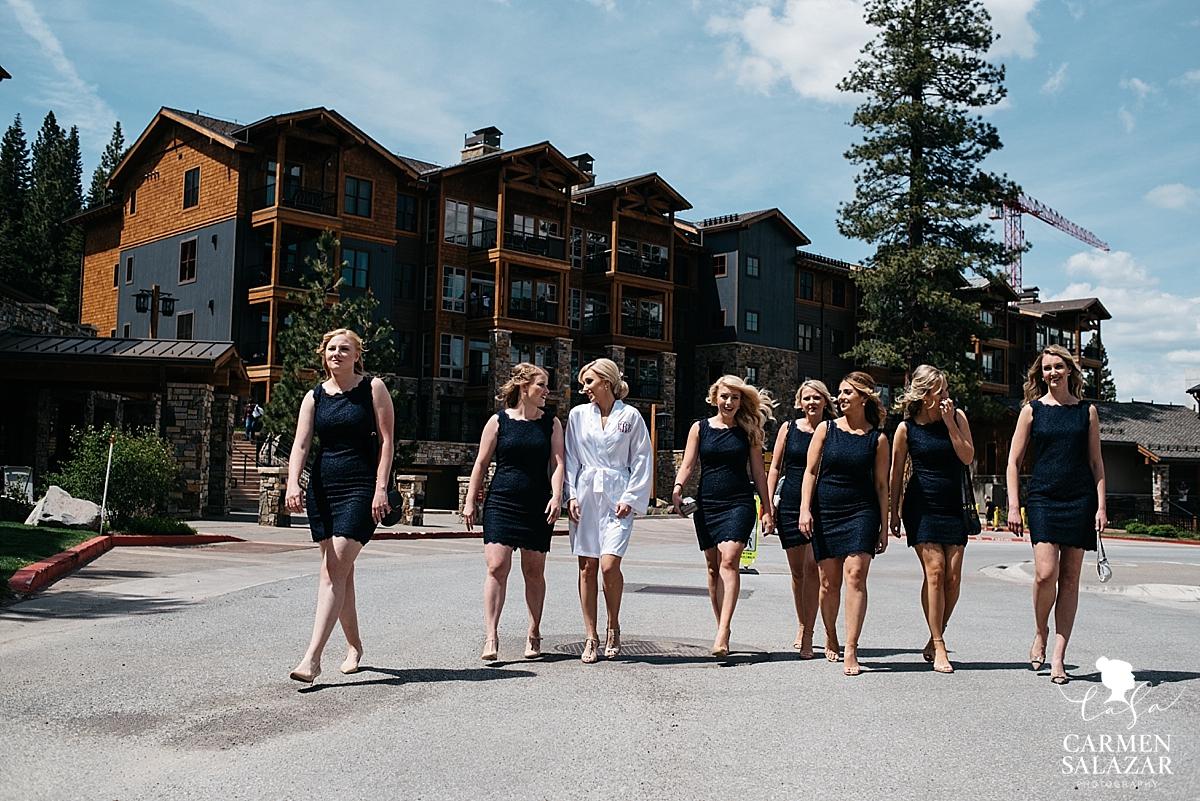 Classy navy blue summer bridesmaid dresses - Carmen Salazar