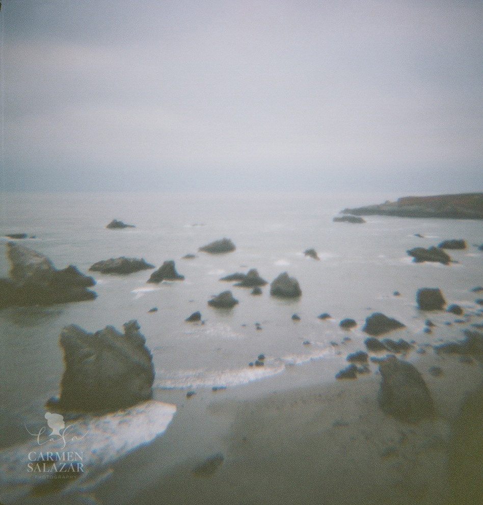 creative ocean photo taken with Diana Camera