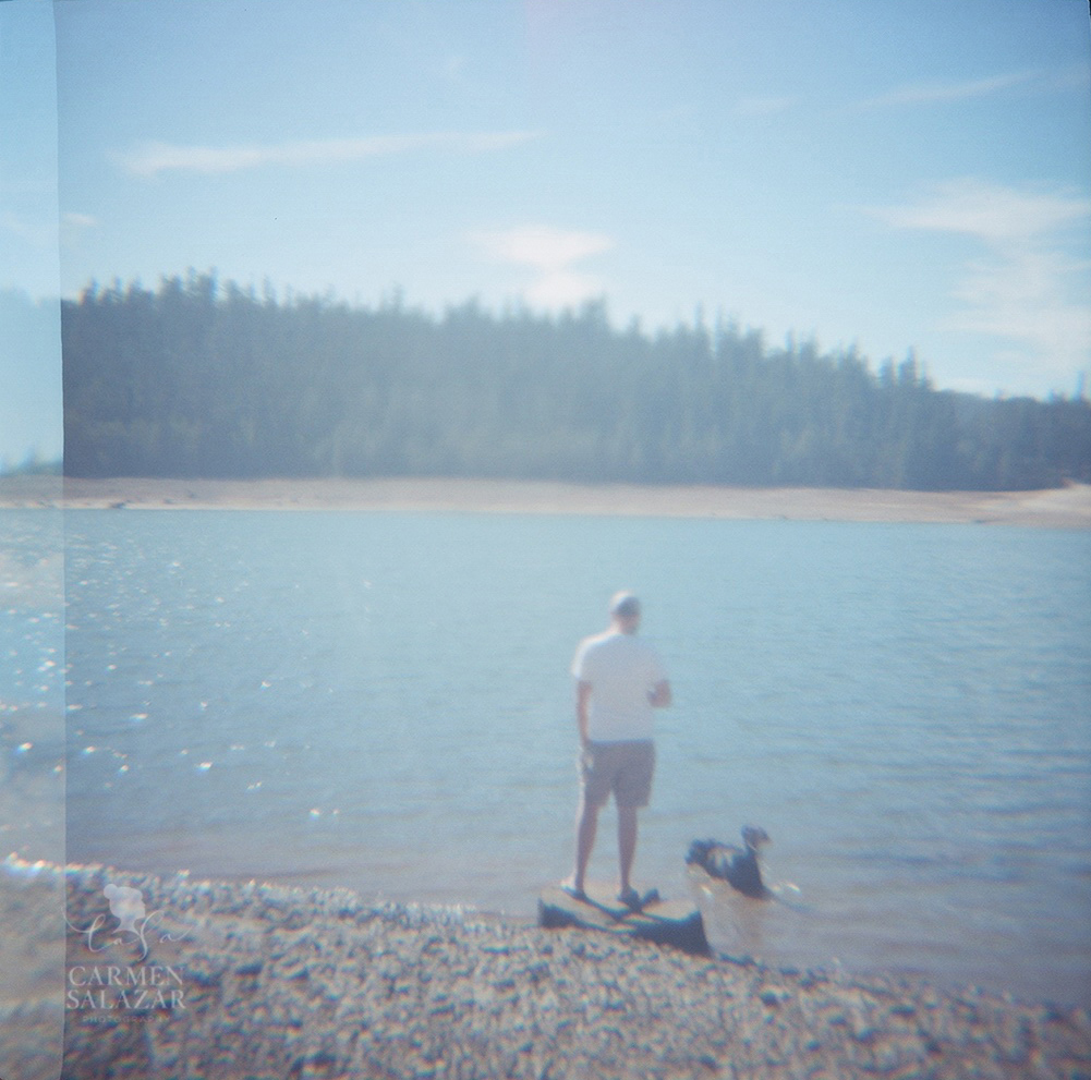 Little Grass Valley Reservoir photo with Diana Camera